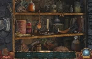 Проклятие Ведьмака, сцена поиска предметов