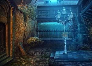 Грани Сознания 2: Убийца разбитых сердец, задний двор, фонарь