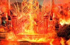 Энчантия: Гнев Королевы Фениксов, ворота, пламя