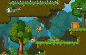 Oozi: Earth Adventure, аркады, лес