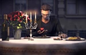 Сакра Терра 2: Поцелуй смерти, романтический ужин, молодой человек, свечи