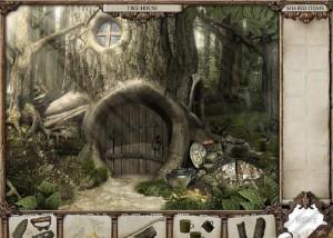 Зеркало тайн, лес, домик в дереве, дверь
