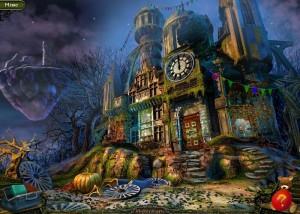 Парк Ужасов 2: Жуткие Сказки, большой дом, флажки