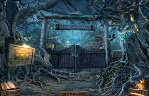 Темный Лабиринт: Река Салливан, деревянные ворота, корни деревьев