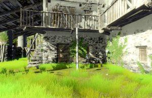лестница вокруг заброшенного дома