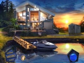 Вторжение: Затерянные во времени, дом на берегу, белый катер, причал