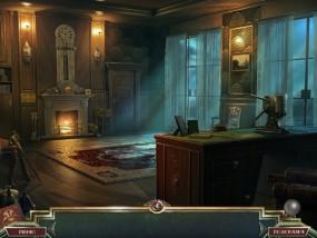Священный Альманах: Следы жадности, кабинет, горящий камин, светильники на стенах