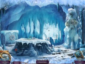 Над водой 6: Игра богов, ледяная комната, белый медведь с украшением
