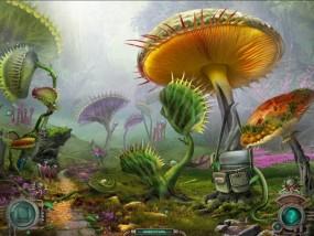 Тайна затерянной планеты, поляна с гигантскими грибами
