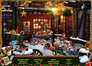 Рождество: Страна Чудес, поиск предметов, звезды, машинка