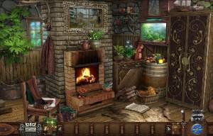 деревенский домик горящий камин аквариум