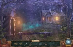 Проклятие Ведьмака, дом вдалеке, сторожка, лес
