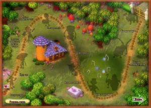Алиса в стране Маджонг, карта игры