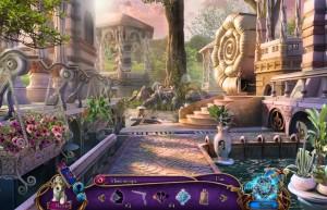 В поисках бессмертия 2: Живая Гора, красивый сад с бассейном