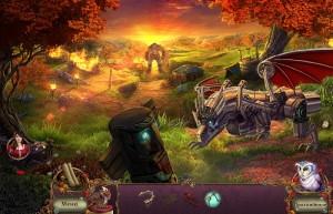 Пробуждение 6: Краснолиственный лес, железный дракон, лес, огр