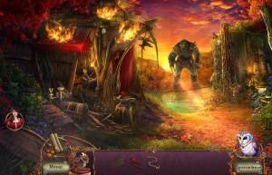 Пробуждение 6: Краснолиственный лес, огр преграждает путь, лес, дорога