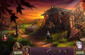 Пробуждение 6: Краснолиственный лес, разрушенная деревня, кентавр