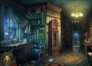 Грани Сознания 2: Убийца разбитых сердец, кабинет, напольные часы, люстра