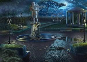 Грани Сознания 2: Убийца разбитых сердец, двор, фонтан, беседка