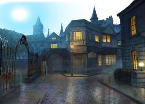 Грани Сознания 2: Убийца разбитых сердец, улица, дома, арка