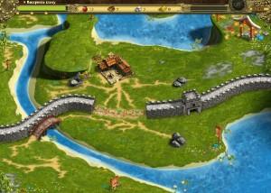 Возведение Великой китайской Стены, строительство стены, река