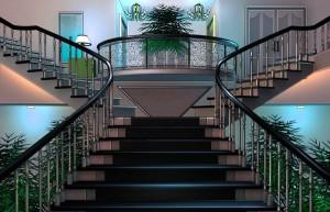 Бестолковые, шикарный холл, большая лестница