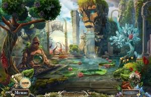 Опасные игры: Пленники судьбы, лес, каменный идол
