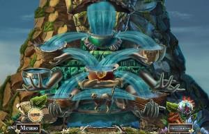 Опасные игры: Пленники судьбы, водопад на вершине горы