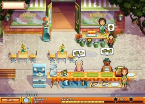 Delicious 8: Emily's Wonder Wedding, работа в кафе