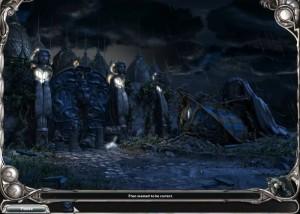 Загадки Царства Сна 5: Книга Воды, скалы, ночь, огромные статуи