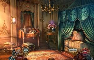 Придворные тайны: Аромат Желаний, спальня, туалетный столик, пуфик