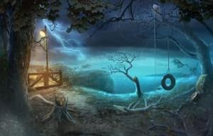 Запретные Тайны: Город Пришельцев, ночь, качель - колесо, фонарь
