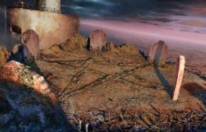 Загадочные Истории: Остров Потерянных Душ, возвышенность, могильные камни
