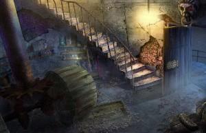 Загадочные Истории: Остров Потерянных Душ, лестница на маяк