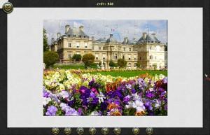 Пазл тур: Париж, замок, цветочное поле