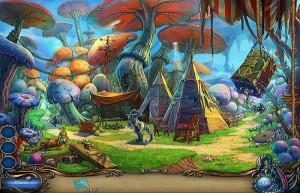Путешествие: Сердце Геи, лес, вигвам, гигантские грибы