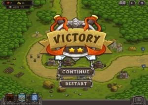 Kingdom Rush, стратегии, меню игры