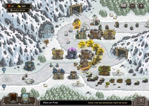Kingdom Rush, стратегии, горы, снег