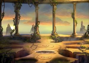 Древнее пророчество инков 2, колонны, зал на скале