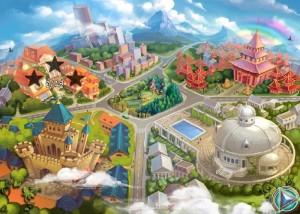 Сказочные Герои: Сохраним наш парк, карта уровней