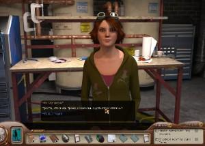 Нэнси Дрю: Смертоносное Устройство, допрос сотрудницы лаборатории
