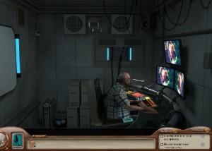 Нэнси Дрю: Смертоносное Устройство, сотрудник лаборатории на посту