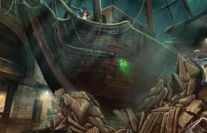 Кошмары из глубин : Проклятое сердце, пиратский корабль