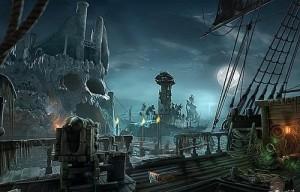 Кошмары из глубин : Проклятое сердце, пиратский корабль, скала - череп