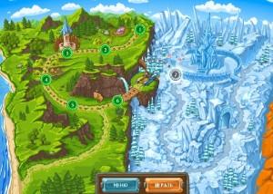 Прочь из королевства, карта уровней