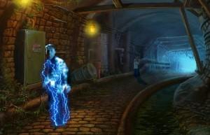 Квестериум: Зловещая Троица, подземный туннель, человек - молния