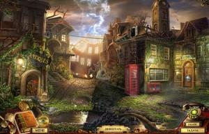Квестериум: Зловещая Троица, разрушенный город, телефонная будка