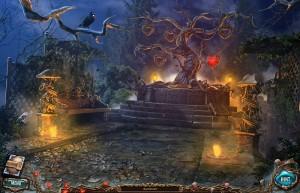 Сакра Терра 2: Поцелуй смерти, дерево на пьедестале, фонари