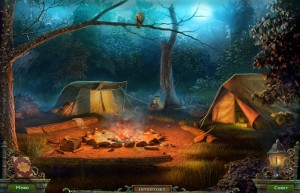 Штрига: Летний Лагерь, палатки в лесу