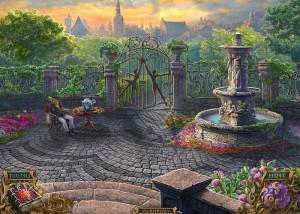 Тайны Духов: Темный Минотавр, задний двор, фонтан